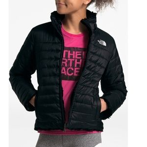 Girls North Face Mossbud Reversible Coat Jacket M